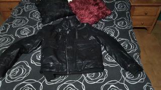 chaqueta imitación piel para hombre