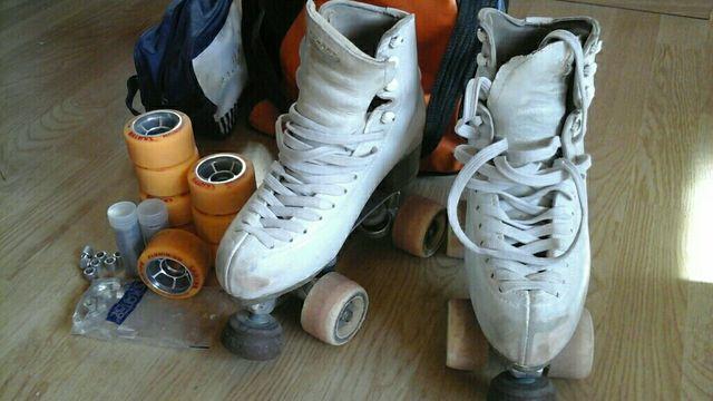 Patines patinaje artístico Risport. Ruedas parquet