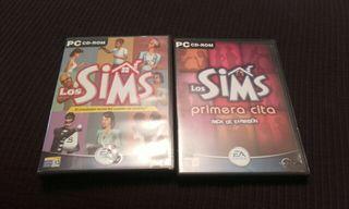 "Los Sims + pack expansion ""primera cita"""