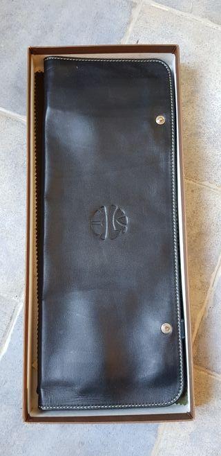 porta corbatas piel
