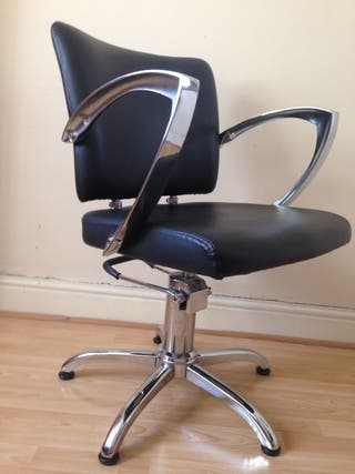 Professional Black Leather Hairdressing chair