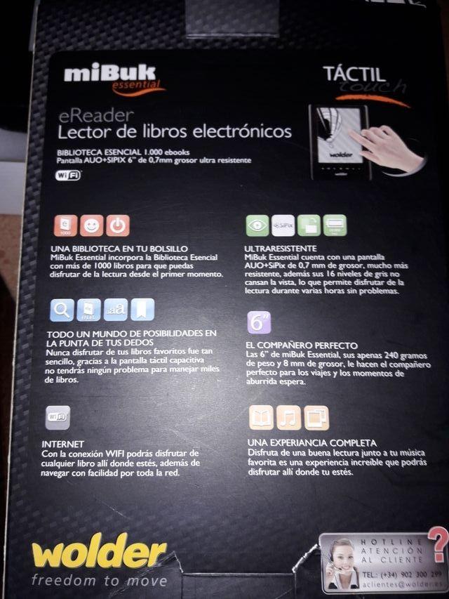 """Ebook. Libro electrónico Wolder 6"""" de segunda mano por 65"""