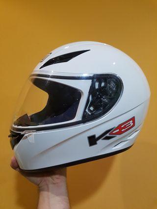 Casco moto AGV k3 color blanco talla S