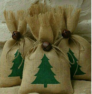 sacos navidad para envolver regalos detalles