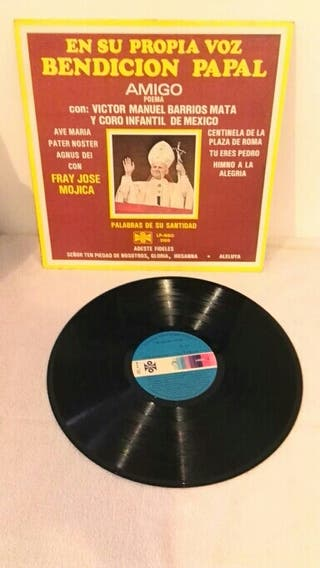 Disco vinilo bendición Papa Juan Pablo II