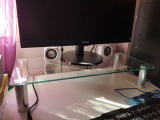 soporte alzador de pantalla pc