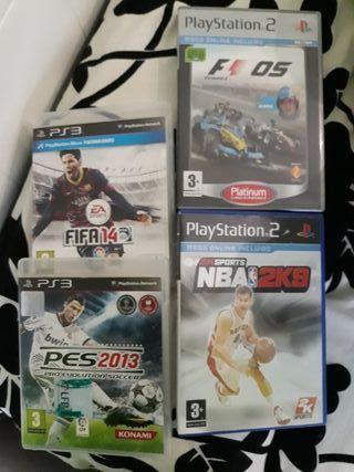 Precio por los 4 Juegos play station