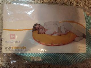 Almohada lactancia bebe.