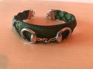 Pulsera Gucci piel verde