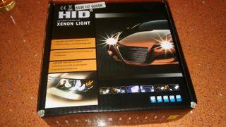 hid kit xenon nuevo h7 55w 6k luz fria blanca