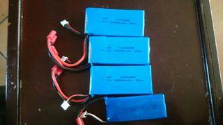 baterias 7.4 v 2000 mah