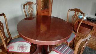 lote Mesa comedor y 4 sillas