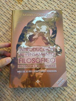 Libro introducción al pensamiento filosófico UNED
