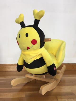 Balancín infantil abeja madera