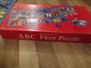 christmas abc floor puzzle