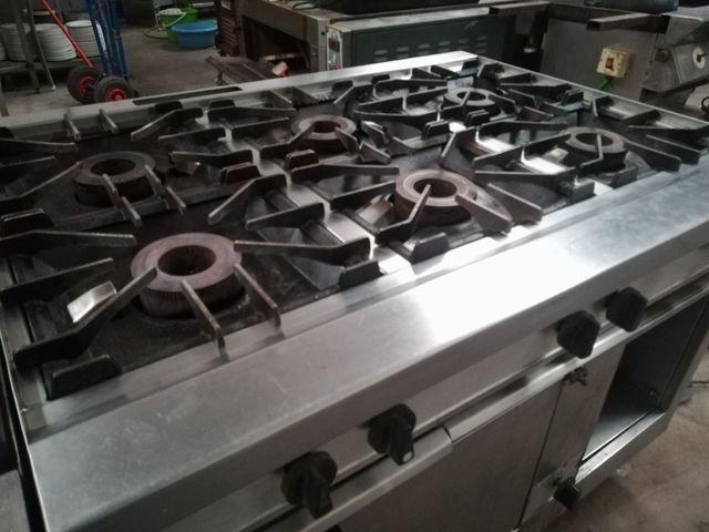 cocina gas seis fuegos con horno