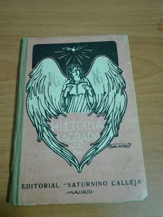 "Libro antiguo ""Programa de Historia Sagrada."""