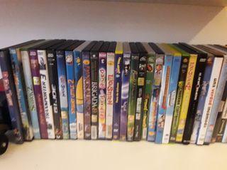 lote de 60 de dvd infantil
