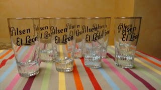 Vasos cerveza Pilsen El León