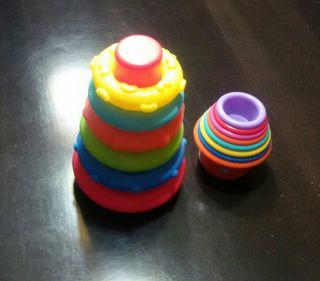 Juguetes de estimulación para bebés.