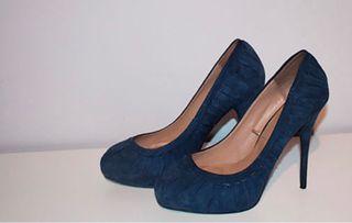 Zapatos tacon azul marino