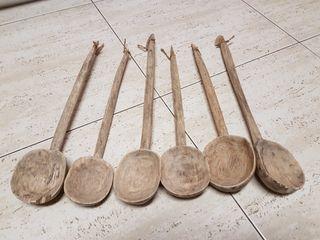 cucharones de madera muy antiguo 25 todos