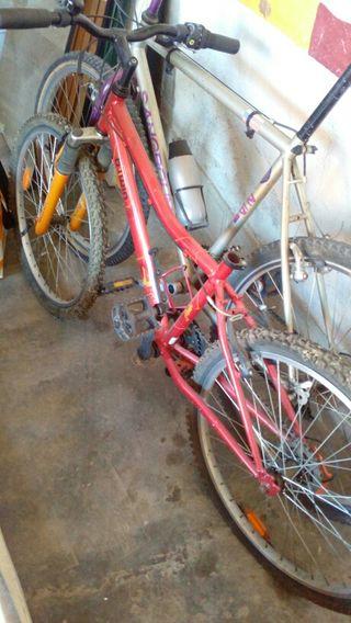 bicicleta niña color dorado oscuro