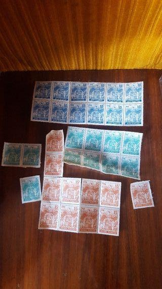 sellos 5 10 y 15 pesetas