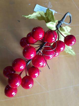 racimo acebo rojo Navidad 20 cm con 18 bolas. art