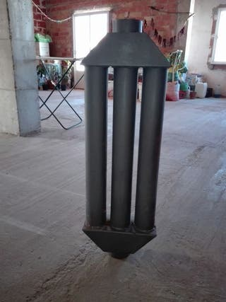 Radiador estufa pellet, hueso,cascara