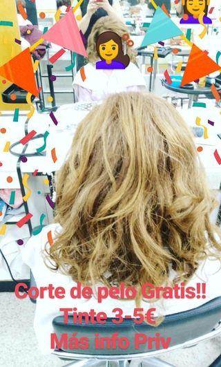 Corte de cabello GRATIS! Tinte 3-5