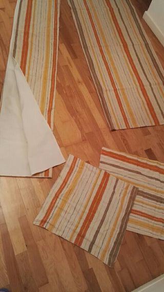 2 fundas nórdicas + cortina + 2 fundas de cojín