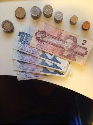 Cambio dinero de Canadá
