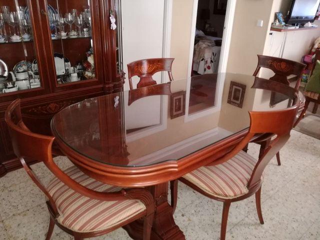 Mesa comedor de caoba madera maciza de segunda mano por 500 en sevilla wallapop - Wallapop mesa comedor ...