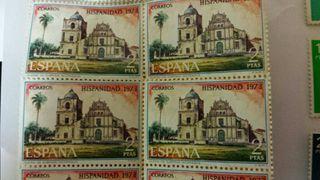 Sellos antiguos en pesetas