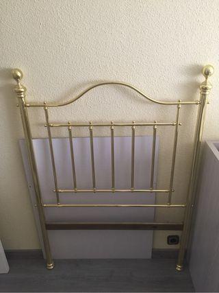 Cabecero cama 90 dorado
