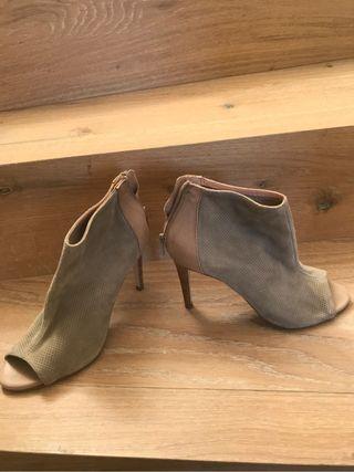 Zapatos T 38 nuevos de ante y piel