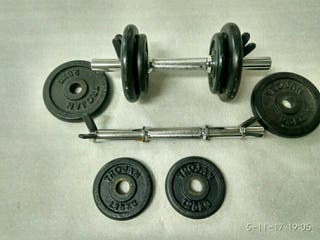 pesas de gimnasia