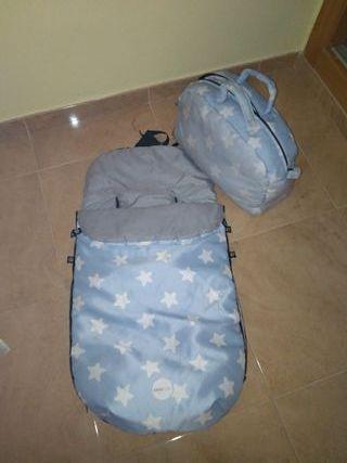 funda silla saco + bolso de cochecito