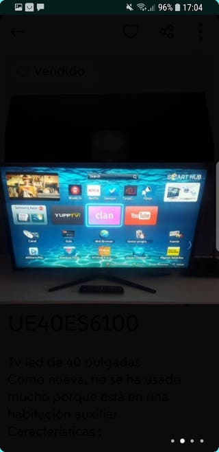 "Samsung UE40ES6100 40"" 3D, Full HD, 200Mhz, Wifi.."