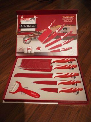 set cuchillos suizos nuevos