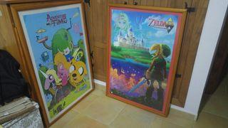 Cuadro The Legend of Zelda y Hora de Aventuras