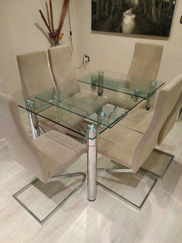 Mesa comedor cristal diseño de segunda mano por 390 € en Valencia en ...
