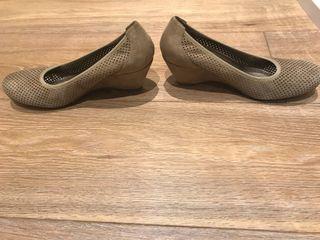 Zapato ante beige t 38