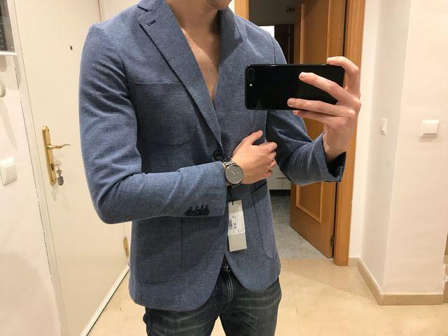 Americana azul italiana