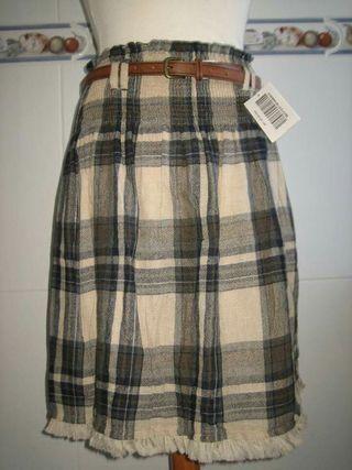 Falda nueva de cuadros talla XS/L