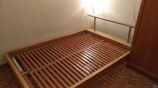 Base de cama doble con colchón y somier 150x200 cm