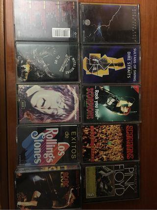 Lote 10 cassette tape musica heavy