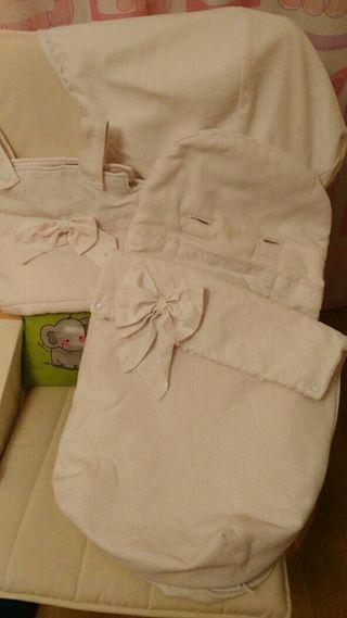 Conjunto bugaboo saco, capota y bolso
