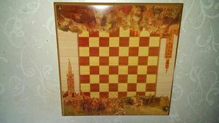 tablero de ajedrez de sevilla moros y cristianod
